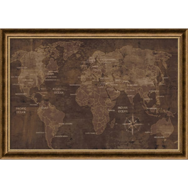 Luke Wilson 'The World' Framed Art Print 40 x 28-inch