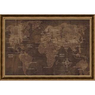 Luke Wilson 'The World' Framed Art Print 40 x 28-inch