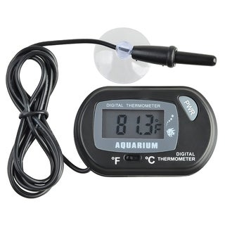 BasAcc Black LCD Digital Fish Tank Aquarium Thermometer