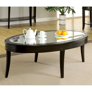 Furniture of America Slovaria Modern Glass Top Coffee Table