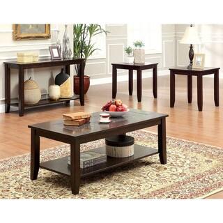 Furniture of America Kalani 4-Piece Mosaic Insert Top Accent Table Set