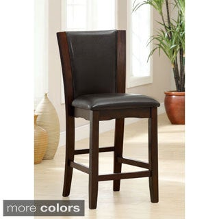 Furniture of America Carlise Leatherette Counter Height Dining Chairs (Set of 2)