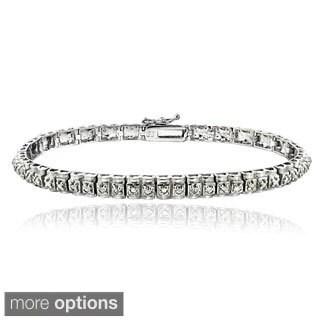 DB Designs 1/2ct TDW Diamond Studded Tennis Bracelet (I-J, I2-I3)