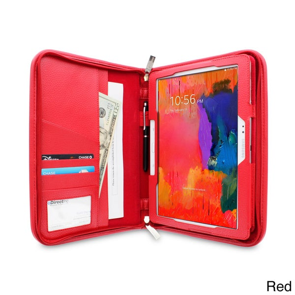 rooCASE Executive Portfolio Leather Case Cover for Samsung Galaxy Tab Pro 10.1 SM-T520 / Note 10.1 (