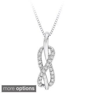 Sterling Silver 1/10ct TDW White Diamond Infinity Pendant (J-K, I1-I2)