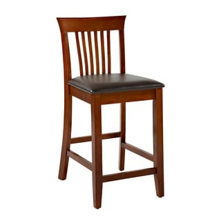 Linon Triena Collection Dark Cherry Craftsman Counter Stool