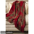 Joni Soft Chenille Plaid Fringed Throw