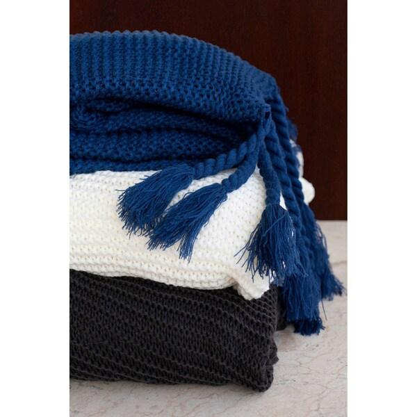 Europa Sweater-knit Fringe Throw