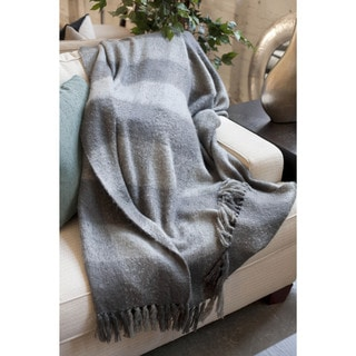 Annette Faux Mohair Fringe Throw