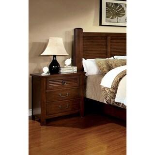 Furniture of America Erindale 3-Drawer Brown Cherry Nightstand
