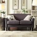 INSPIRE Q Uptown Modern Dark Grey Linen Loveseat
