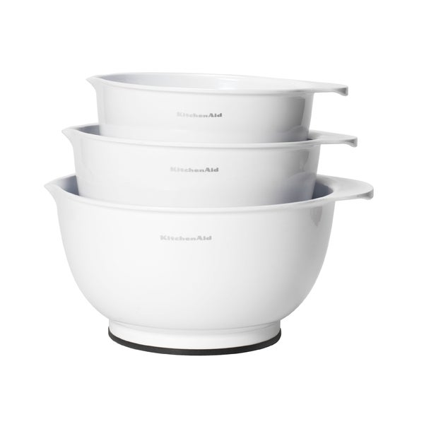 kitchen aid classic white mixing bowls set of 3 overstock shopping