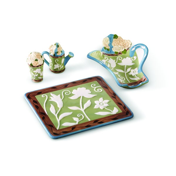 Pfaltzgraff Patio Garden 4-piece Kitchen Accessory Set