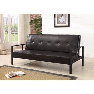 Klik-Klak Vinyl Sofa Futon Bed Sleeper