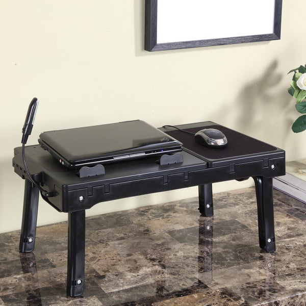 Black Metal Laptop Table