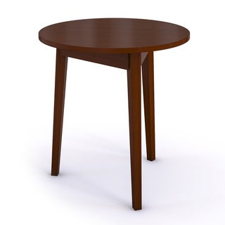 Circle Cherry Finish Mahogany Wood Table
