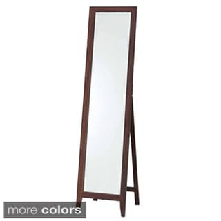 Wooden White or Walnut Standing Mirror
