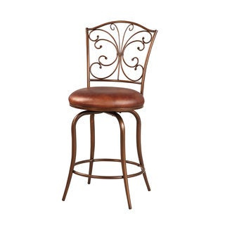 Linon Butterfly Back Metal Counter Stool