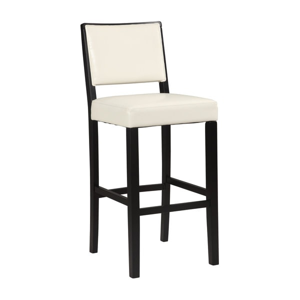 Linon Zoe White Bar Stool