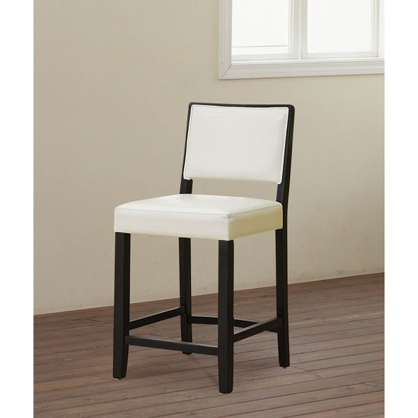 Oh Home Caitlin Black Frame Counter Stool With White