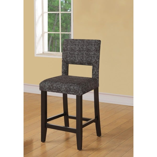 Oh Home Zeta Stationary Counter Stool Black Amp White
