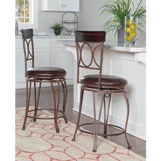 Linon Circles Back Counter Stool
