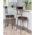 Oh! Home Spirals Back Design Counter Stool, Brown PVC