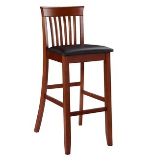 Linon Torino Collection Dark Cherry Craftsman Bar Stool