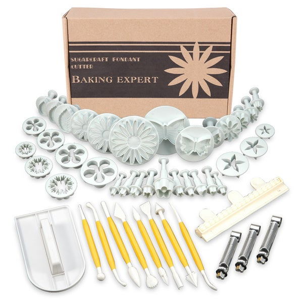 Sugarcraft Plunger Cake Cutters 46-piece Decorating Tool Set