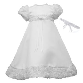 Christening Baptism Special Occasion Satin Dress Gown