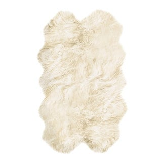 Natural by Lifestyle Brands New Zealand Sheepskin Rug 3' 3/4' x 6'