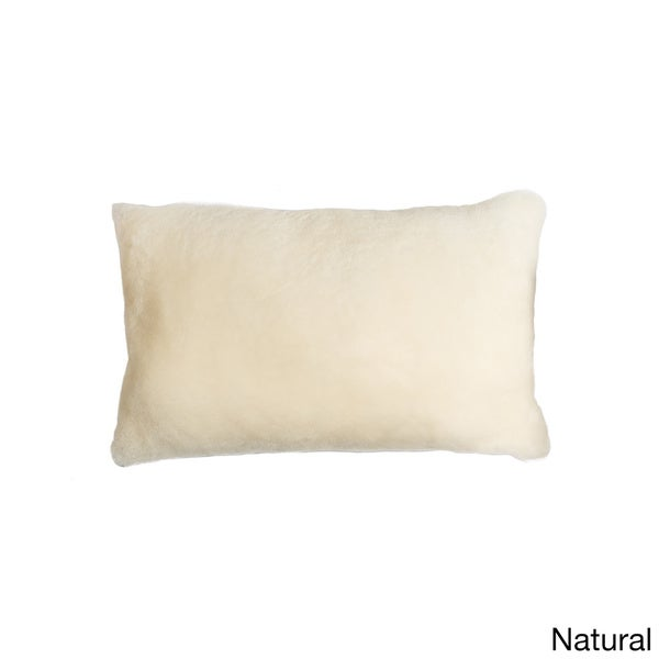 Natural by Lifestyle Brands Nelson Sheepskin Pillow