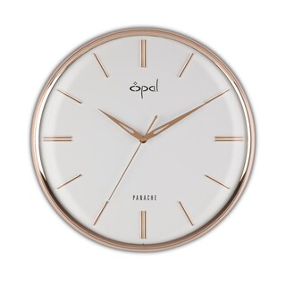 Opal Rose Gold Finished Dome Glass Clock
