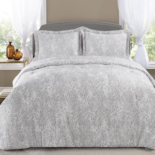 Patti LaBelle Snow Leopard 3-piece Comforter Set