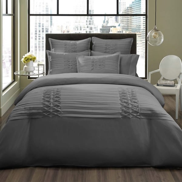 City Scene Triple Diamond Grey 3-piece Duvet Cover Set