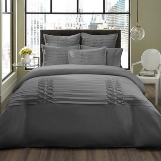 City Scene Triple Diamond Grey 3-piece Duvet Cover Set with optional European Sham Seperates