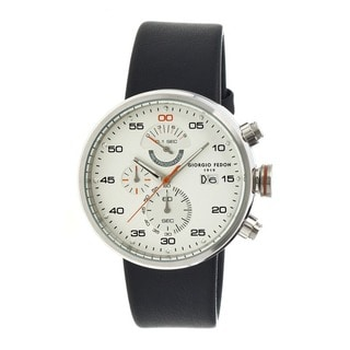 Giorgio Fedon 1919 Men's Speed Timer Iv White Leather Black Analog Watch