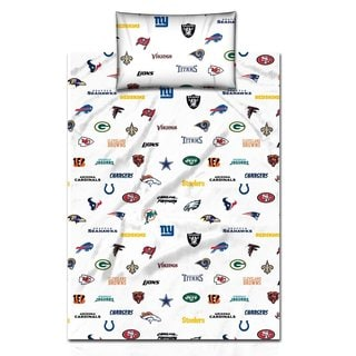 NFL Twin Size Cotton Sheet Set