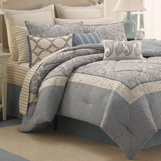 Laura Ashley Whitfield 4-piece Comforter Set with European Sham Separates
