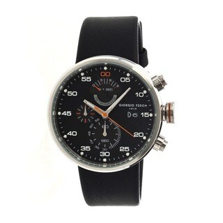 Giorgio Fedon 1919 Men's Speed Timer Iv Black Leather Black Analog Watch