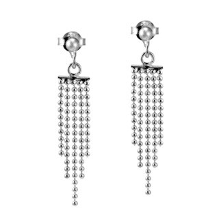 Cascading Waterfall .925 Silver Dangle Post Earrings (Thailand)