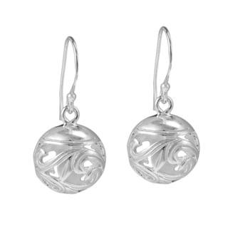 Dimentioanl Filigree Rounded Swirl .925 Silver Earrings (Thailand)