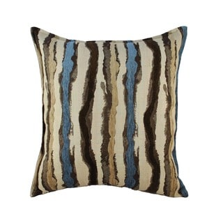 Sherry Kline Waves Blue Brown 24-inch Throw Pillow