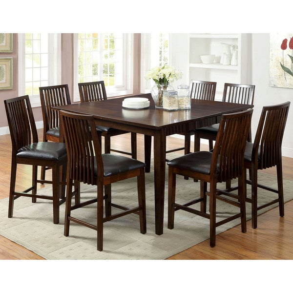 furniture of america copter 9 piece counter height dining