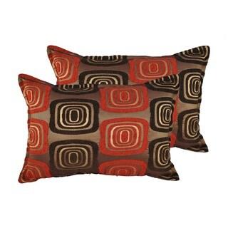 Sherry Kline Retro Red Boudoir Throw Pillows (Set of 2)