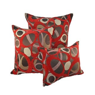 Sherry Kline Oh Red Combo Throw Pillows (Set of 3)