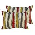 Sherry Kline Waves Yellow Red Boudoir Throw Pillows (Set of 2)