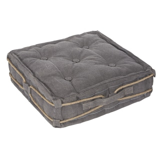 angelo:HOME Linder Grey Rope Square Floor Cushion