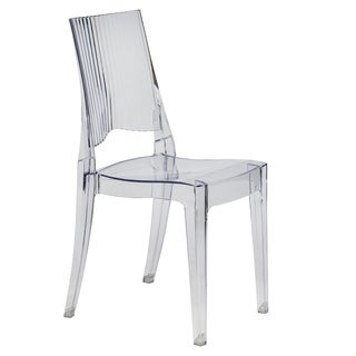 Coral Transparent Clear Modern Dining Chair
