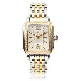 Michele Stainless Steel Deco Signature 6/10 Diamond TDW Link Watch (H-I, I1-I2)